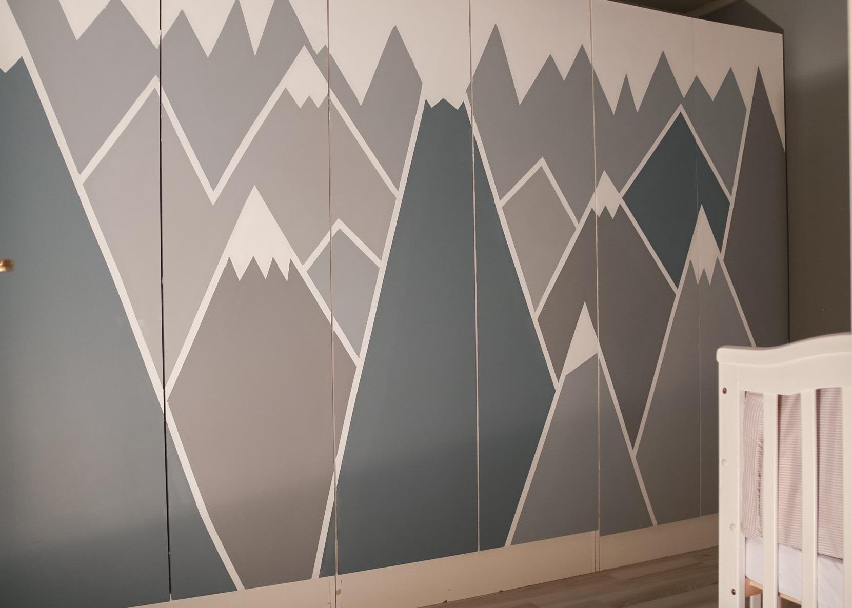 Geometrisk mønster - hvitelinjer