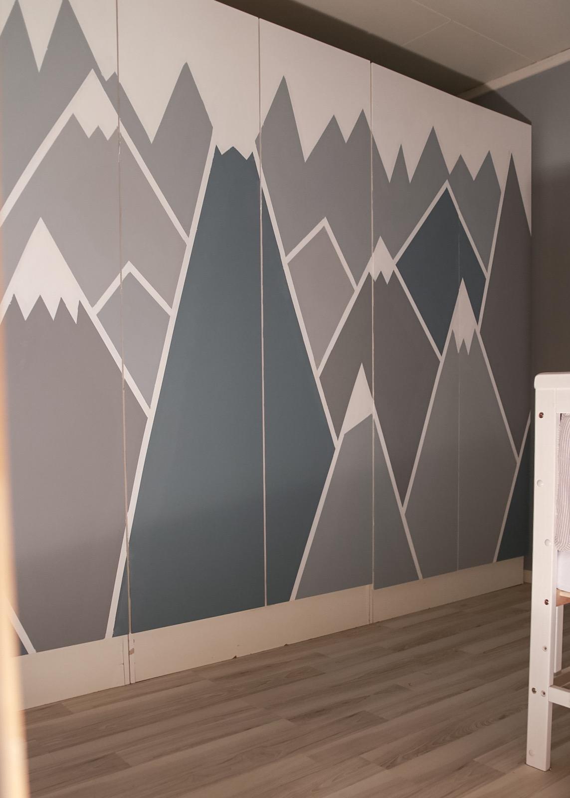 Geometrisk mønster - hvitelinjer oppussing