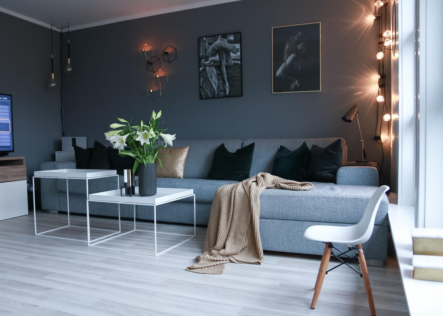 Julepyntet hus og stuebilder - HVITELINJER BLOGG