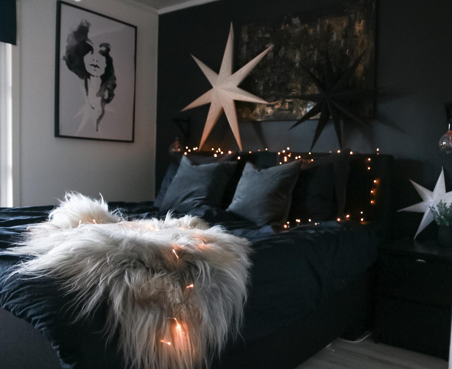 Julepyntet soverom - HVITELINJER BLOGG -