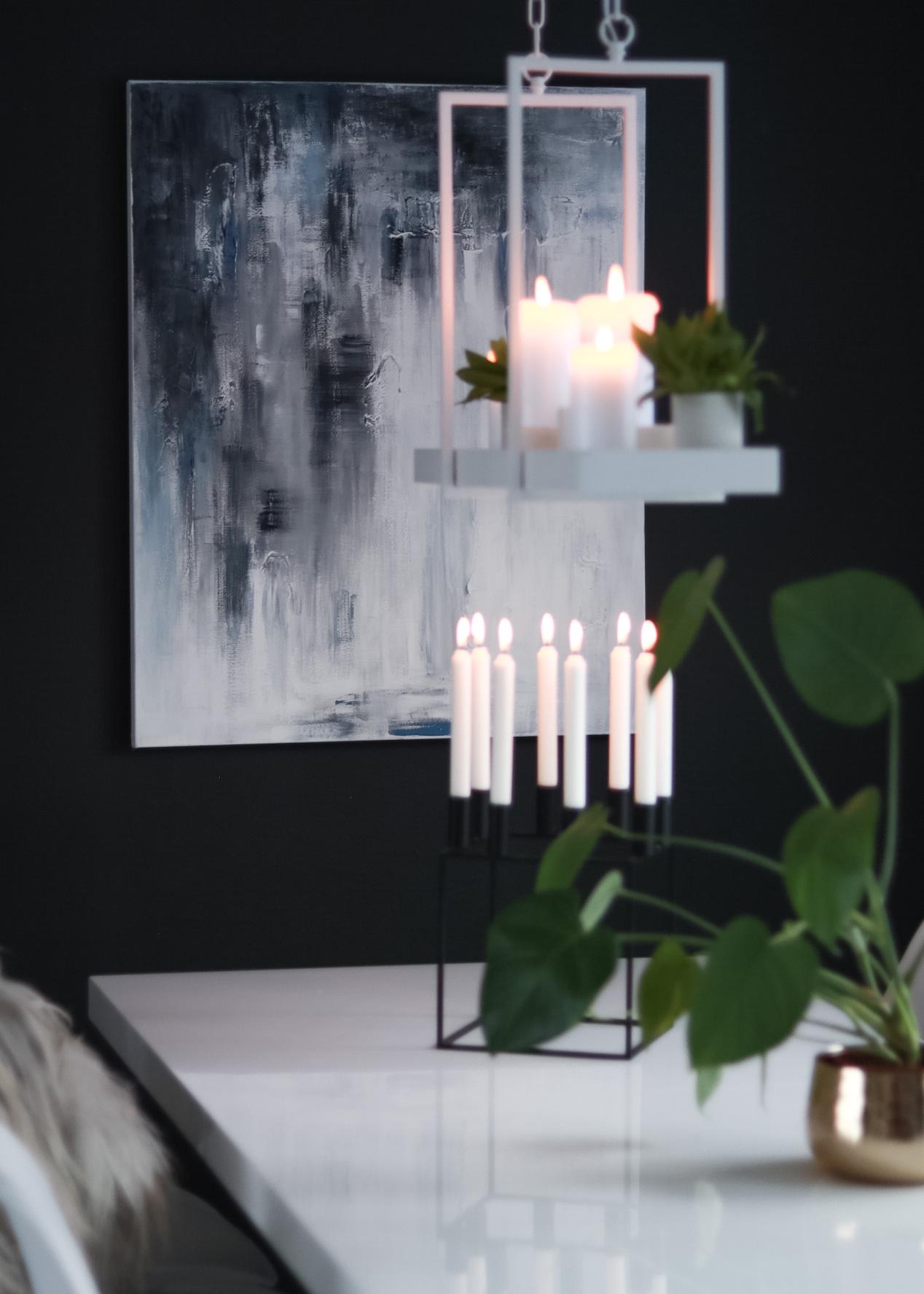 Lys i spisestuen - HVITELINJER BLOGG -