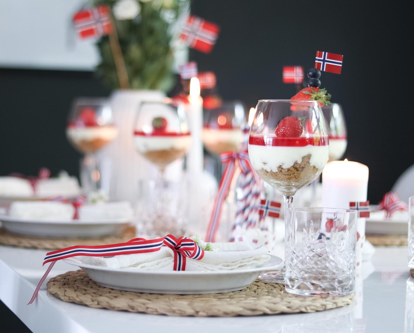 Ostekake i glass – Oppskrift