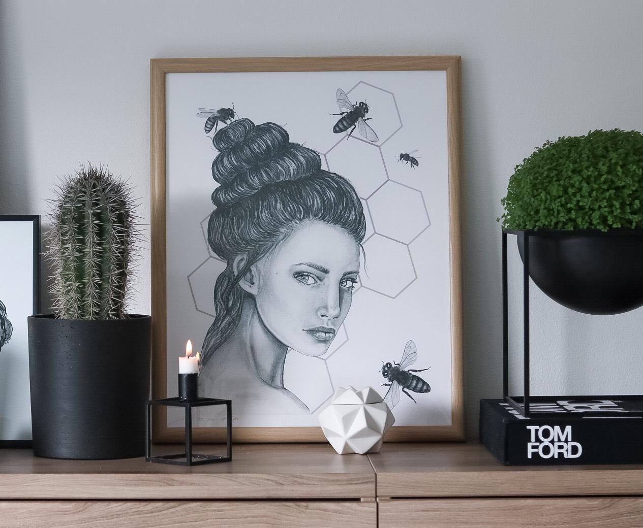 Come buzzing me (poster fra Glimre design)