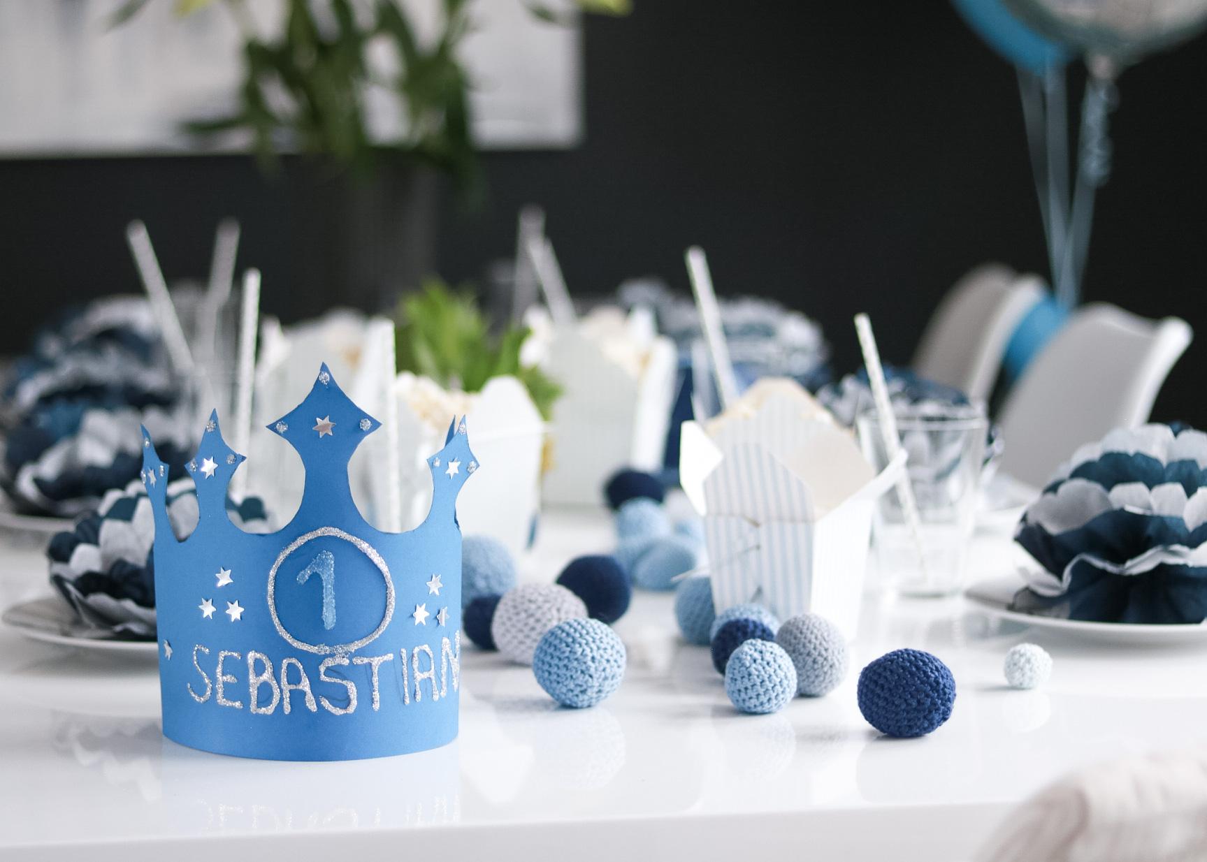 1 årsdag til Sebastian – borddekking barnebursdag