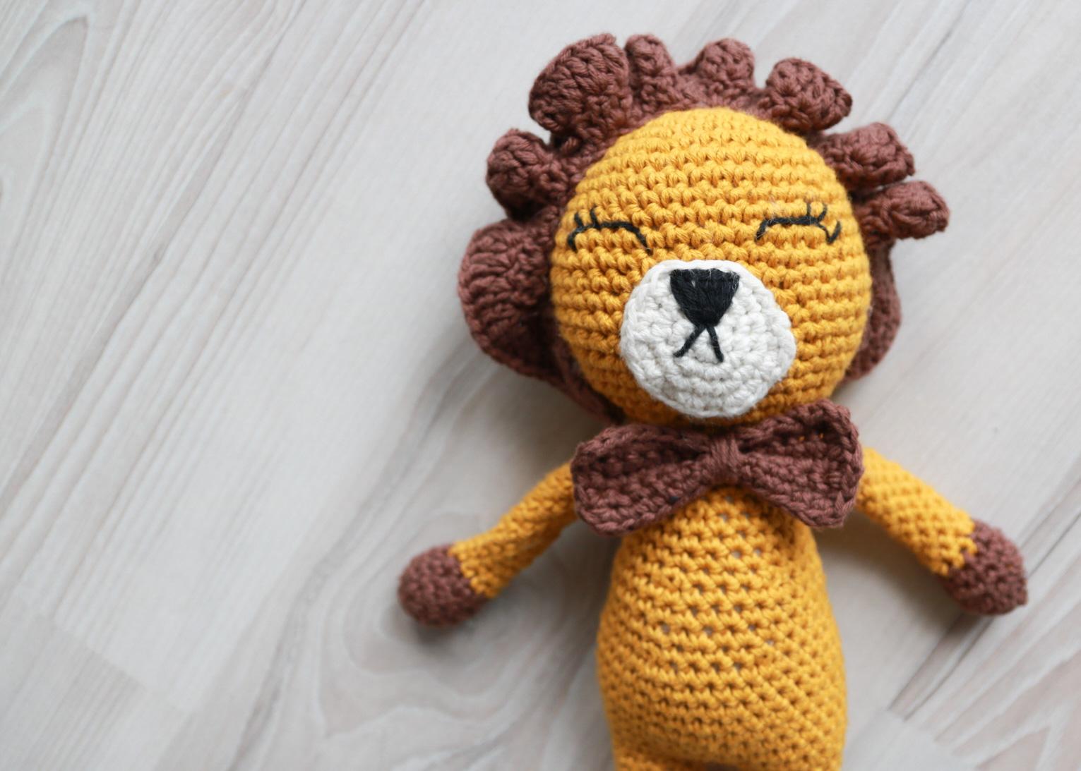 Løven Leonard – Hekleoppskrift
