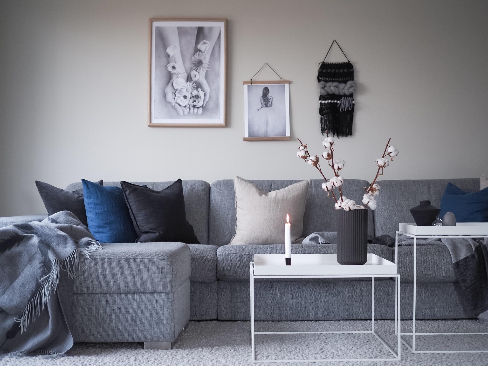Stilen jeg ønsker for stuen - HVITELINJER BLOGG -