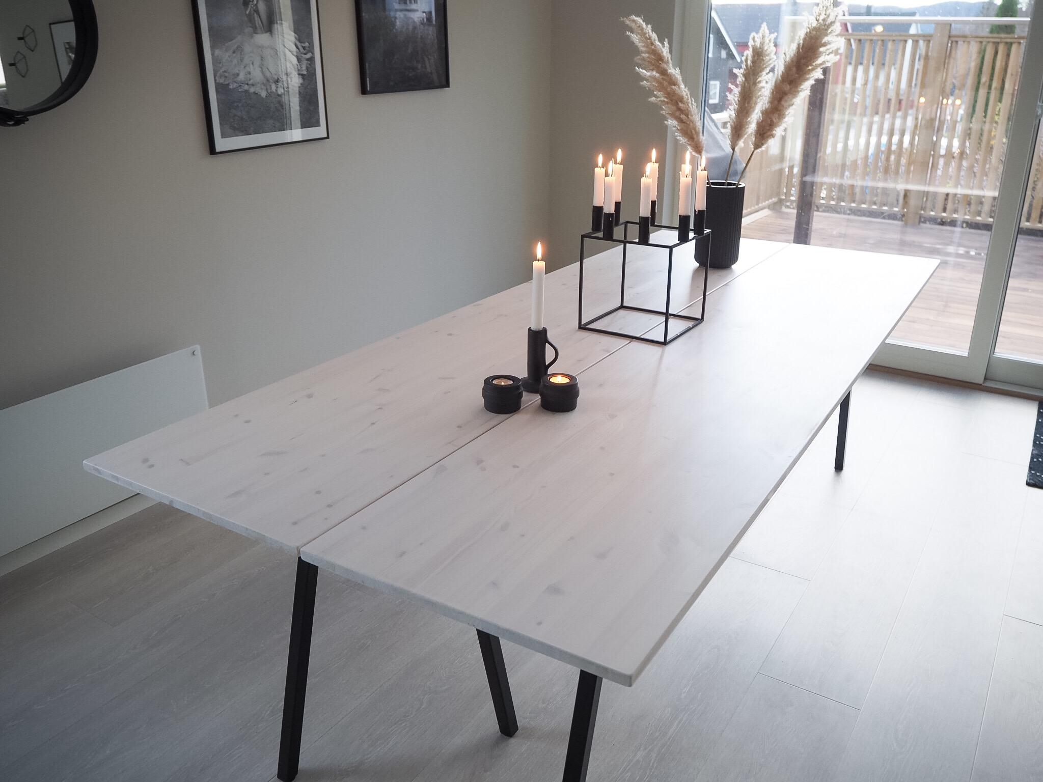 Spisebord DIY | HVITELINJER