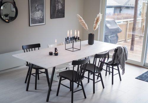 Prosjekt spisebord (DIY) - HVITELINJER BLOGG -