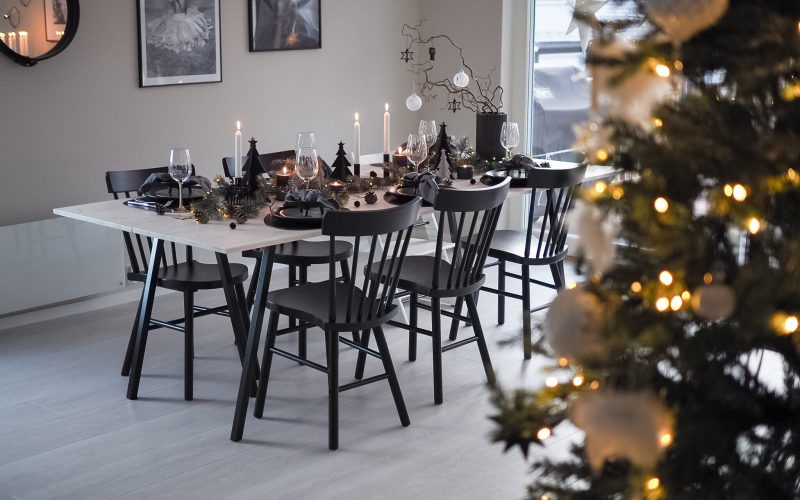 Borddekking til jul - Årets første - HVITELINJER BLOGG