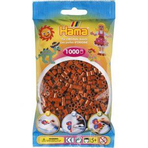 Hama Midi Perler - Reddish Brown (1000 stk)