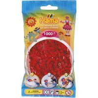 Hama Midi Perler - Dark Red (1000 stk)